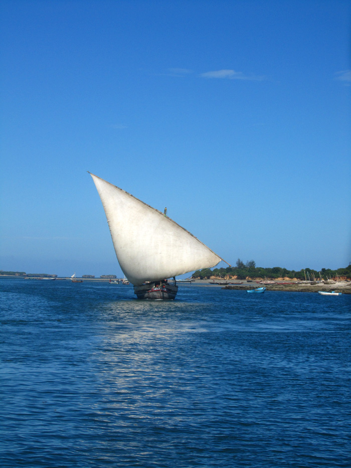 Dhow Sailboat in Tanzania