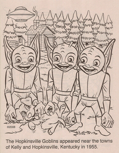 """Coloring Book Advantages"" :: ""Fun with Monsters"" ; Hopkinsville Goblins (( 2011 ))"
