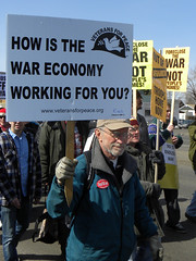 Veterans for Peace at an anti-war protest