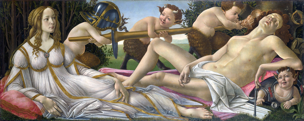 Venus & Mars de Botticelli : Simonetta Vespucci & Julien de Médicis