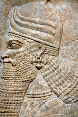 Neo-Assyrian Wall Relief - Head of a Winged Genie at Harvard Art Museum Cambridge MA (mbell1975) Tags: cambridge sculpture usa art statue wall museum ma arthur us university gallery head massachusetts harvard musee m relief museums winged genie antiquity sackler antiquities neoassyrian