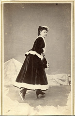 Ice Skating Woman CDV  by N.P. Jones, Madison, Wisconsin (depthandtime) Tags: old winter portrait ice wisconsin vintage studio found midwest antique iceskating skating 19thcentury 1800s madison cdv foundphoto skates nineteenthcentury warmclothes cartedeviste npjones