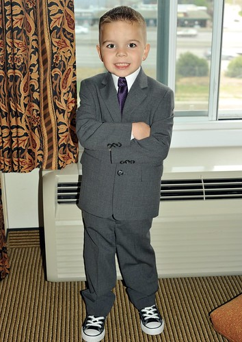 Angry Kid ready for the wedding.