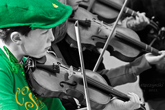 Vancouver's Saint Patrick's Day Parade  Vancouver Celticfest 2011 - 'Bad to the Bow' from Sunshine Coast (janusz l) Tags: ireland boy bw musician irish heritage saint st festival musicians vancouver scottish parade violin celtic celticfest patricksday 2011 selectivecoloring janusz vancouvers leszczynski lovelyflickr badtothebow 002251 03222011 thecoaststringfiddlersassociation