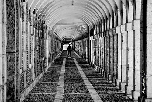 Paseo entre arcos