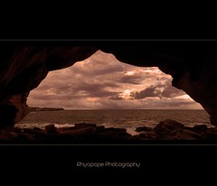 A Rich Sydney Hermits View (rhyspope) Tags: ocean sea sky panorama cloud beach water weather photoshop canon coast marine rocks waves afternoon stitch ripple pano horizon sydney australia erosion coastal photomerge cave aussie coogee headland cs3 500d rhyspope