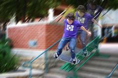 Look At Him Go! (jball359) Tags: canon 300d action littlerock multiplicity motionblur arkansas skateboarder topazlabs 1855mmf456 15challengeswinner topazremask mygearandme pse9 photoshopelements9