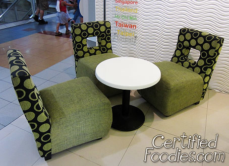 Our chairs and table at Tutti Frutti - CertifiedFoodies.com