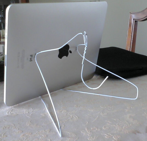 home made ipad stand