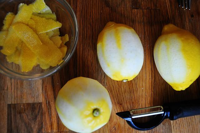 peeled lemons