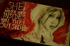 She wore her insides on the outside (allicette) Tags: life family woman art history abandoned love moleskine water girl childhood female illustration pencil watercolor paper lost sadness sketch pain women child humanity aquarelle victim daughter illustrations drawings happiness sketchbook depression innocence learning graphite abuse doppelganger fail condition allicette allicettetorres postaweek2011