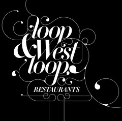 loop & west loop restaurants (jeremy pettis) Tags: chicago fun typography yeah ornament headline trendy type flourish hardrockhotel swash didot jeremypettis typeillustration designscout