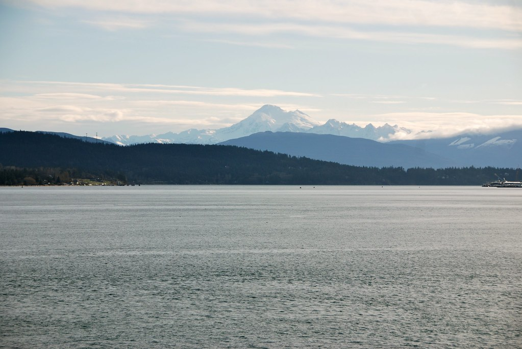 View of Mt. Baker from Washington ferry