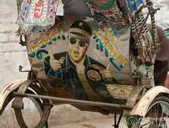 Elvis on the Back of a Bangladeshi Rickshaw? (uncorneredmarket) Tags: transport bollywood rickshaw bangladesh rickshawart rajshahi