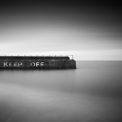 keep off 1:1 (.Rohan) Tags: uk sea england seascape silver square landscape pier long exposure north norfolk yarmouth efx