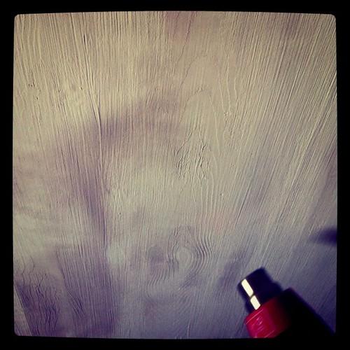 """Secando a parede que imita madeira ;-) - Minha casa, meu orgulho"""""""