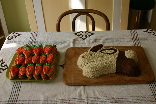 rabbit cake, carrot cookies