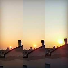 Good morning!!! Lever de Soleil  Parme!!!  Sunrise at Parma!!!  #Photo #Sunrise #LeverdeSoleil #RayOfLight #RayondeSoleil #Colours #Landscape #Cityscape #Orange #Blue #Italy #Parma #Sky #Sun #Clouds #Nuages #City #Roof #Tript (studioocoma) Tags: roof leverdesoleil blue colours rayondesoleil photo nuages clouds studioocoma landscape cityscape triptyque sun italy rayoflight sunrise galaxys6 city sky parma orange