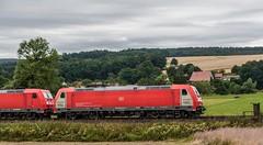 3186_2016_07_16_Haunetal_Neukirchen_DB_6185_402_DB_Schenker_Green_Cargo_&_185_357_mit_Containerzug_KT_50758_Nrnber (ruhrpott.sprinter) Tags: ruhrpott sprinter deutschland germany nrw ruhrgebiet gelsenkirchen lokomotive locomotives eisenbahn railroad zug train rail reisezug passenger gter cargo freight fret diesel ellok hessen haunetal boxxboxxpress db egp ell hhla hsl hvle lbllocon metrans mrcedispolokdispo bb railpoolrpool rbh rhc schweerbau sbbc txltxlogistik wienerlokalbahnencargo 143 145 152 182 185 193 218 270 428 650 1264 1266 421 es64u2 es64f4 greencargo ice r5 outdoor logo natur sonnenaufgang graffiti rinder