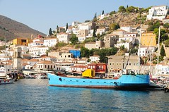 Hello Hydra harbour . (john a d willis) Tags: greece island hydra ydra cruise harbour