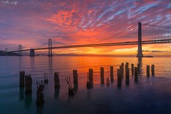 Orange October! (Della Huff Photography) Tags: autumn bay baybridge bridge embarcadero fall ferrybuilding sanfrancisco sunrise