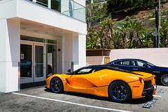 Blue Rims (Noah L. Photography) Tags: laferrari orange car sportscar supercar hypercar carbon fiber hybrid italian ferrarinewportbeach newportbeach