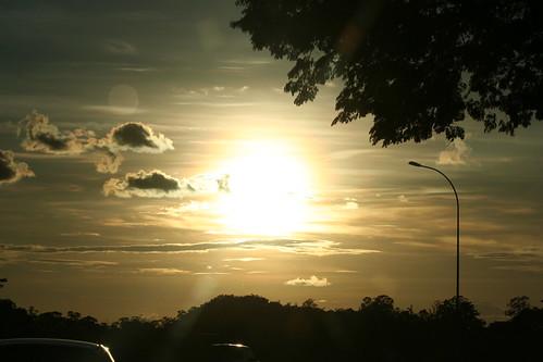 Pôr do sol em Brasilia