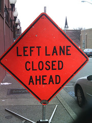 Left lane closed (inetjoker) Tags: digital yashica holgaesque ez521