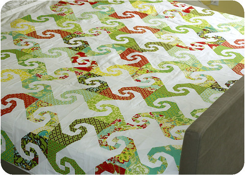 Snails Trail quilt top