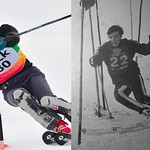 Then and Now - Bob Swan, 1962 Canadian Slalom Champ & '68 Olympian.  Compare shot of Bobby taken more than 40 years ago at Megeve, France, to Bob at the age of 68 in January 2011 at a K2 Zone race at Red Mountain.  (Red Mtn. shot courtesy of Steve Hilts)