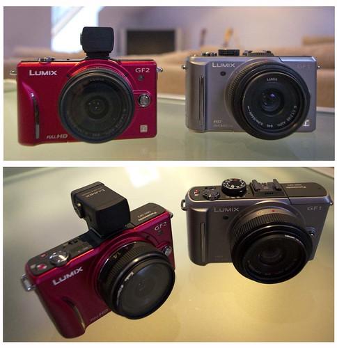 Panasonic GF2 14 mm f/2.4 Pancake lens. Panasonic GF1 20mm f/1.7 Pancake lens