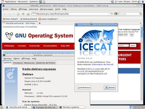 Icecat 3.6.13 et Debian Squeeze