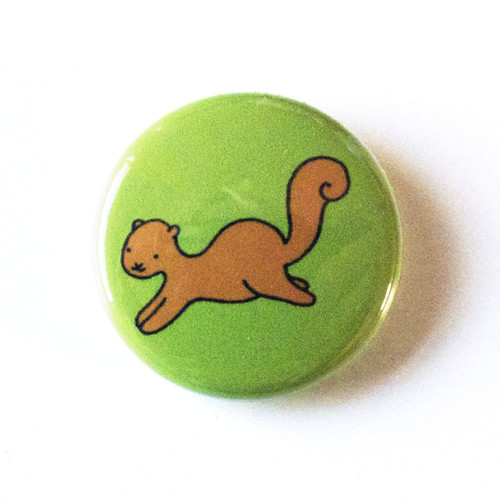 Jumping Squirrel - Button 01.31.11
