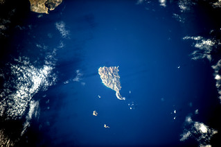 Which Greek island, without snakes?