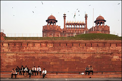 Lal Qila - Delhi (Maciej Dakowicz) Tags: street city urban india monument architecture person asia fort delhi capital landmark unesco redfort lalqila lalqilah