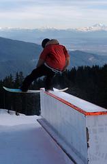 Front Lip (TwistedRidge) Tags: park winter snow canada mountains vancouver snowboarding nike workshop rails mtseymour jib 60 mtbaker fraservalley lowermainland lipslide