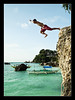 Dive into the blissful sea (off) (PNike (Prashanth Naik)) Tags: blue sky beach water jumping nikon philippines dive diving boracay d3000 pnike