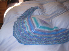 Travelling Blues Shawl 006