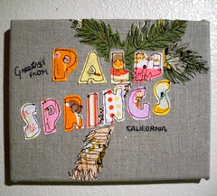 Palm Springs Fabric Art