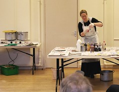 Demonstrating dyeing two