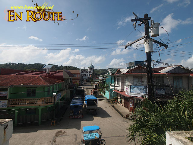 Overlooking the town of Atimonan