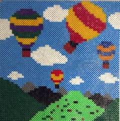 Hot Air Balloons in Hama Beads