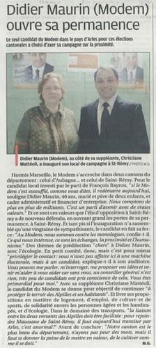 La Provence ( vendredi 04 février 2011 )
