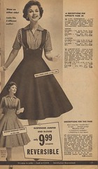 Wear on Either Side (The Cardboard America Archives) Tags: vintage clothing dresses 1950s catalog womenvintage floridafashions