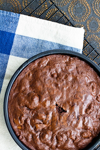 Cocoa brownies with Brown Butter and Walnuts