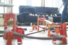 Plastic Train Tracks (Brad.K) Tags: train dof bright thomas depth ds106 dailyshoot section0 ds445 ds106week1