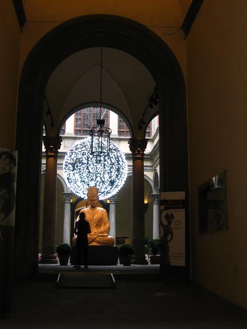 フィレンツェの銅像のフリー写真素材