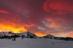DSC_9385 (mingzkl) Tags: winter sunset mountain snow ski laketahoe squaw redcloud nikkor28mmf28ais