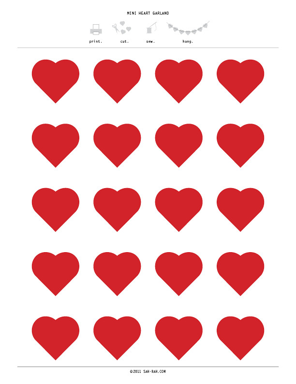 click a thumbnail below to download a page of hearts!