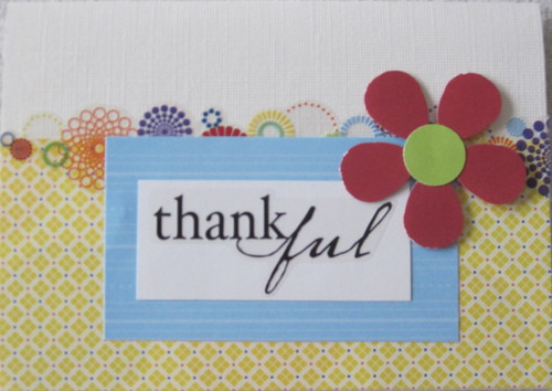 totally sharing Cheerful Thank You Cards